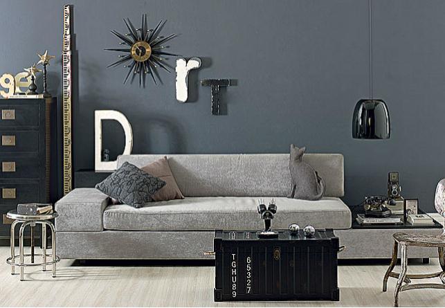 Sala De Estar Letra ~ Na sala de estar, gamas de cinza e objetos rústicos deixam o ambiente